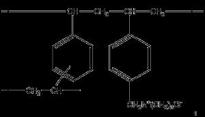 Colestyramin-Strukturformel