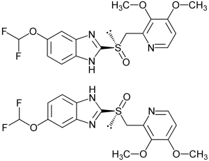 Strukturformel der Pantoprazol Enantiomere