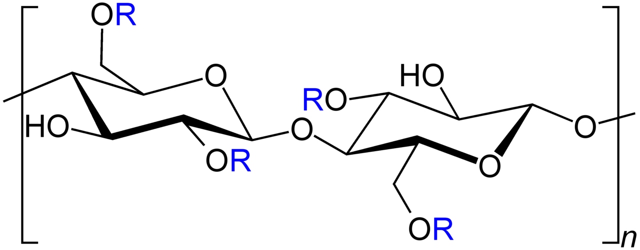 Carboxymethylcellulose Strukturformel