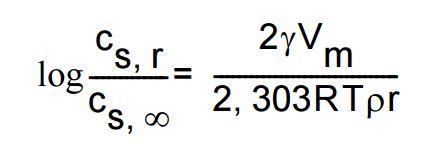 Ostwald-Freundlich-Gleichung