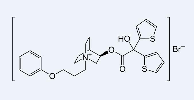 Aclidinium-Aclidiniumbromid Strukturformel