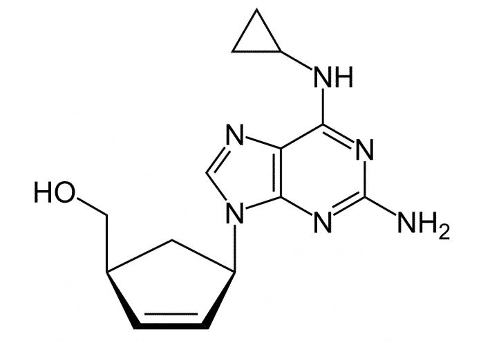 Abacavir-Strukturformel